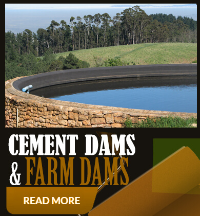 Cement dams and farm dams